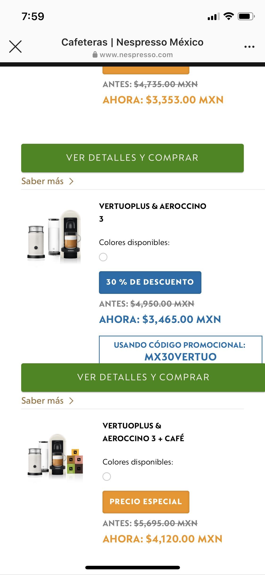 Nespresso: Cafetera Vertuo Plus