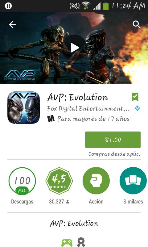 Google Play: oferta de la semana, AVP evolution a $1