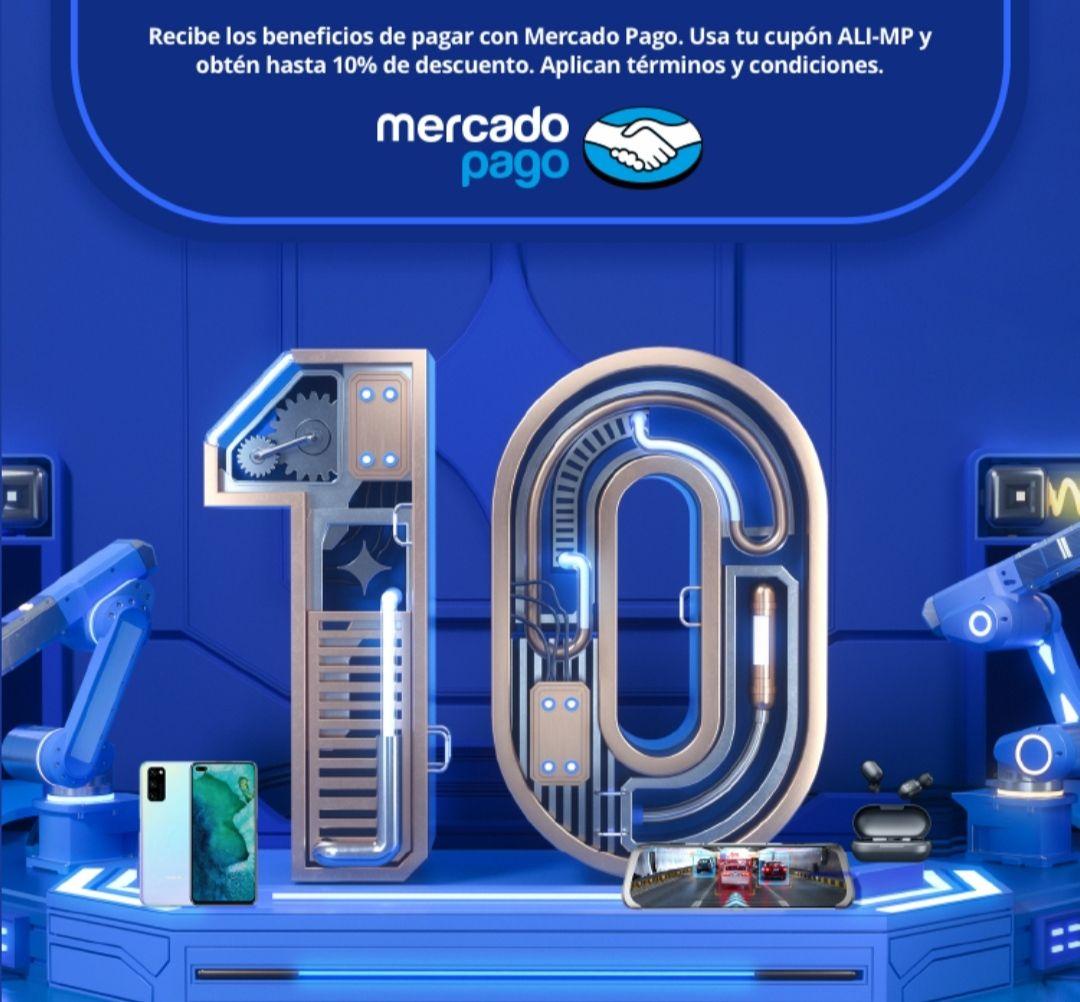 Mercado Pago : -10% de descuento en AliExpress (Mar 27 - Abr 01)