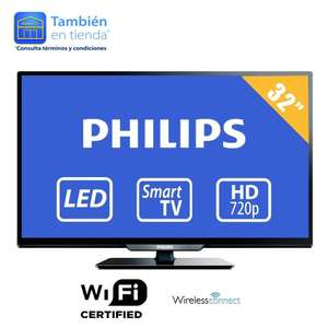 Walmart: Smart TV Phillips, 32' HD a $5,499