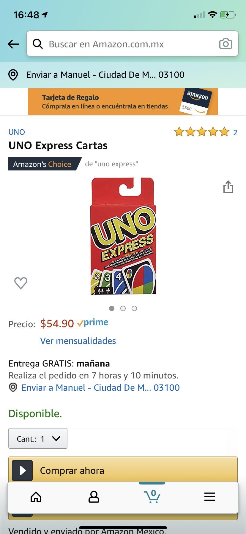 Amazon: UNO express