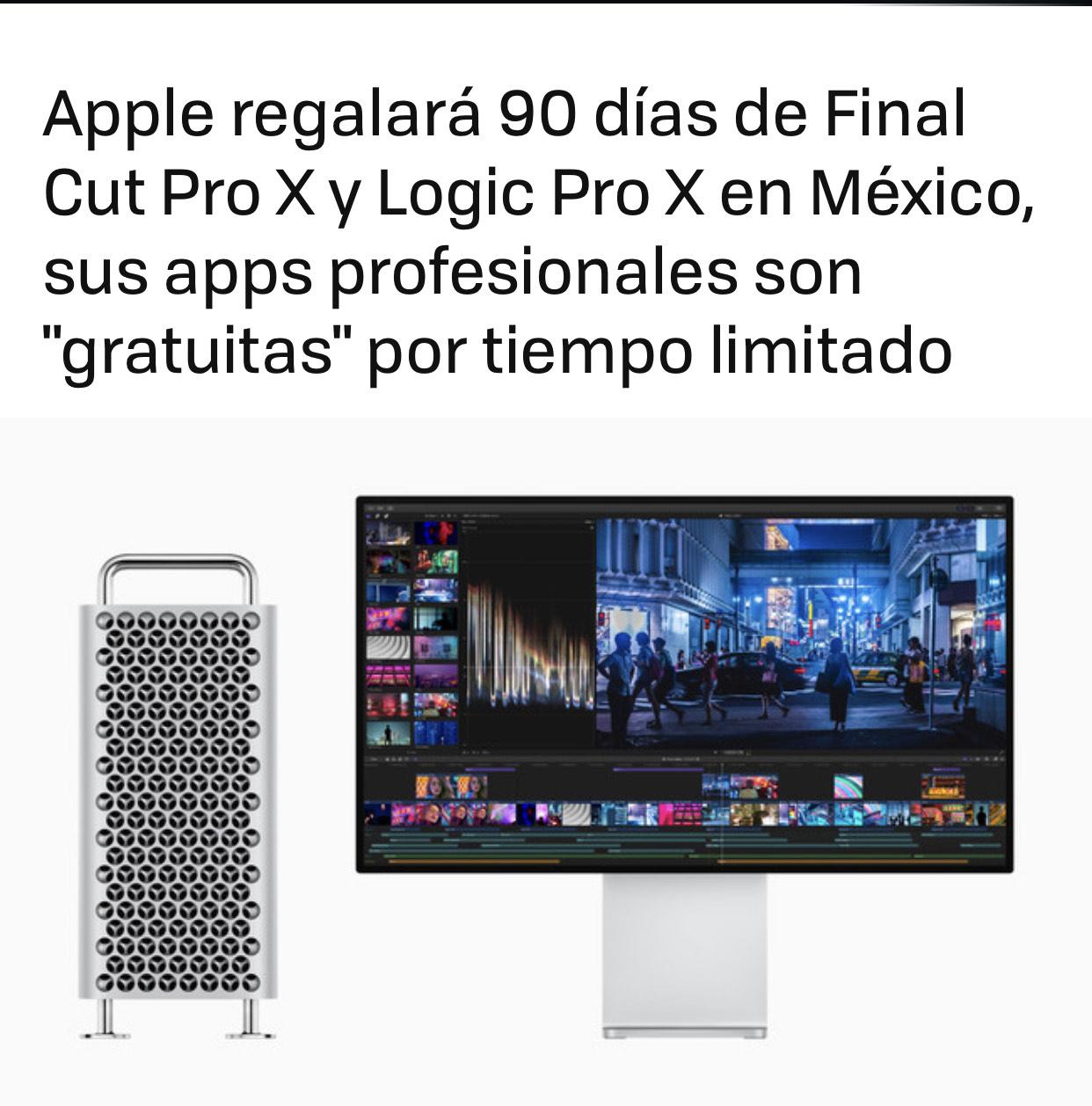 Final Cut Pro X: Prueba gratuita de 90 días