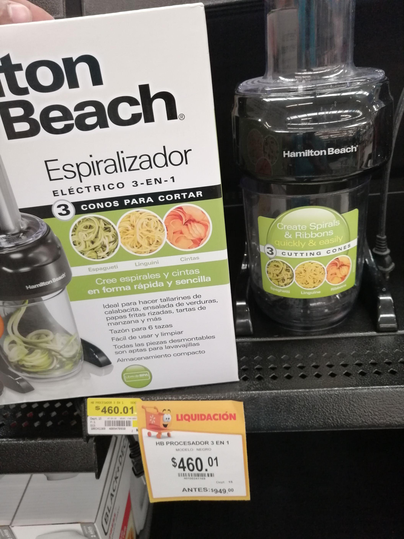 Walmart Tampico: Procesador de alimentos 3 en 1 Hamilton Beach