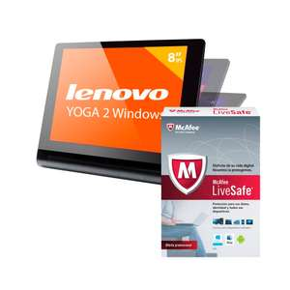 Walmart en línea: Tablet Lenovo Yoga 2 32gb + McAfee Livesafe a $2,499