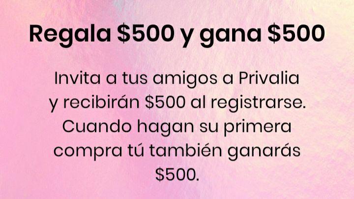Privalia: Invita y recibe $500 de descuento