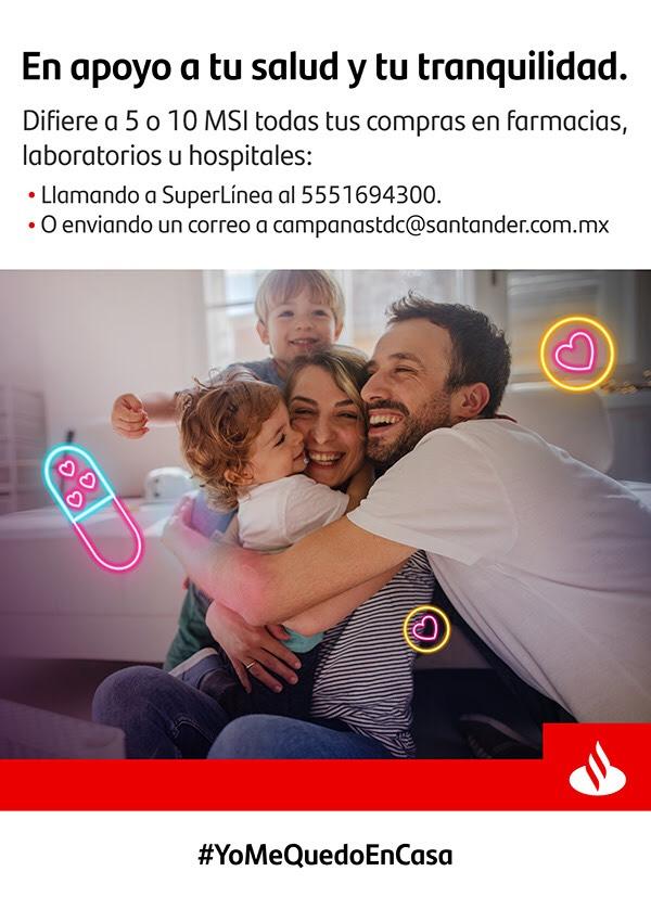 5 o 10 MSI en farmacias laboratorios y hospitales con Santander