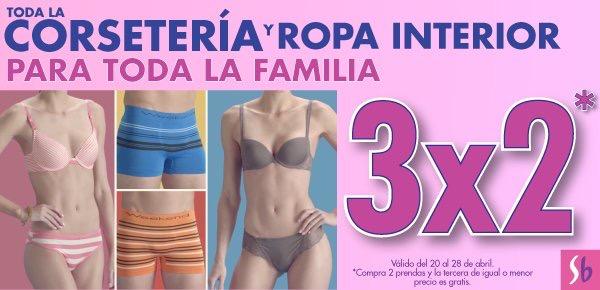 Suburbia: 3x2 en corseteria y ropa interior hasta el 28 de abril
