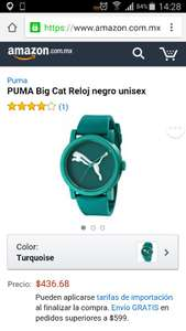 Amazon: reloj PUMA Big Cat verde a $436.68