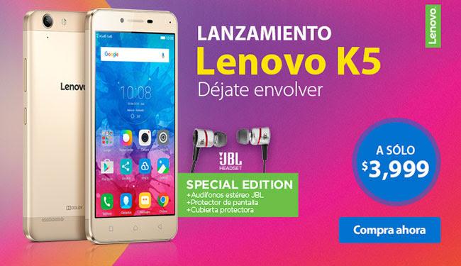 Walmart en línea: Lenovo K5 Special Edition 16GB LTE