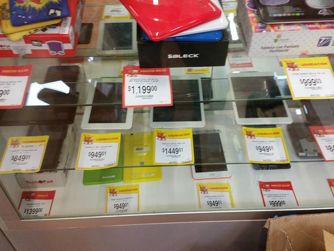 Walmart: Tablet HP 8 Mod.1401 a $1,499.01, Acer y más
