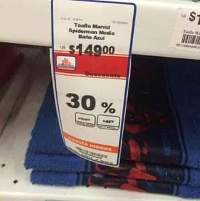 Chedraui B Quintana: 30% de descuento en toallas, manteles y Hoodies de baño