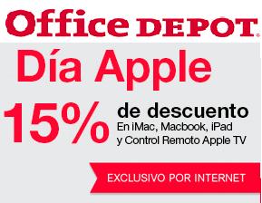 Office Depot en Línea: Día Apple 15% de descuento en iMac, Macbook, iPad y Control Remoto Apple TV + MSI