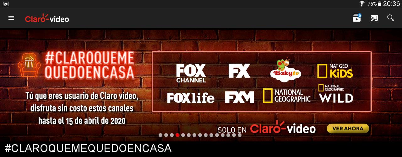 Claro Video: 11 canales gratis hasta el 15 de Abril