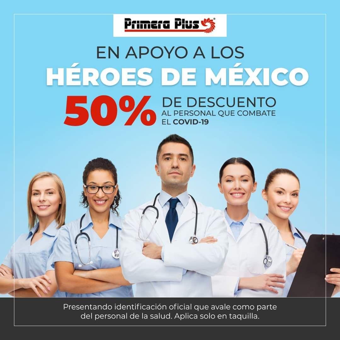 Primera plus: 50% descuento a personal de la salud
