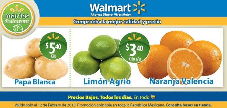 Martes de frescura Walmart febrero 12: papa $5.40, limón $3.40 y más