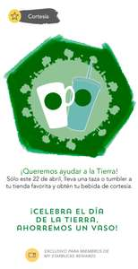 Starbucks: Bebida de cortesía para miembros de My Starbucks Rewards