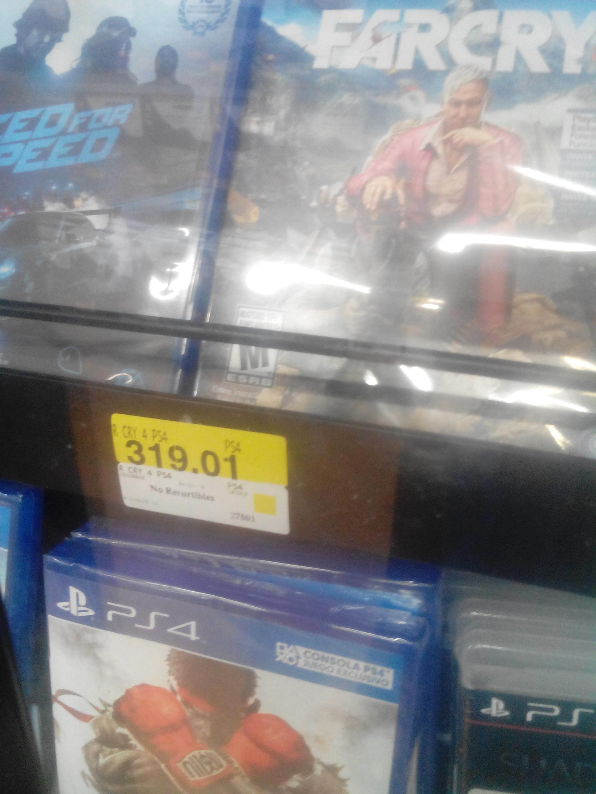 Walmart: Farcry 4 para PS4 y Xbox One a $319.01