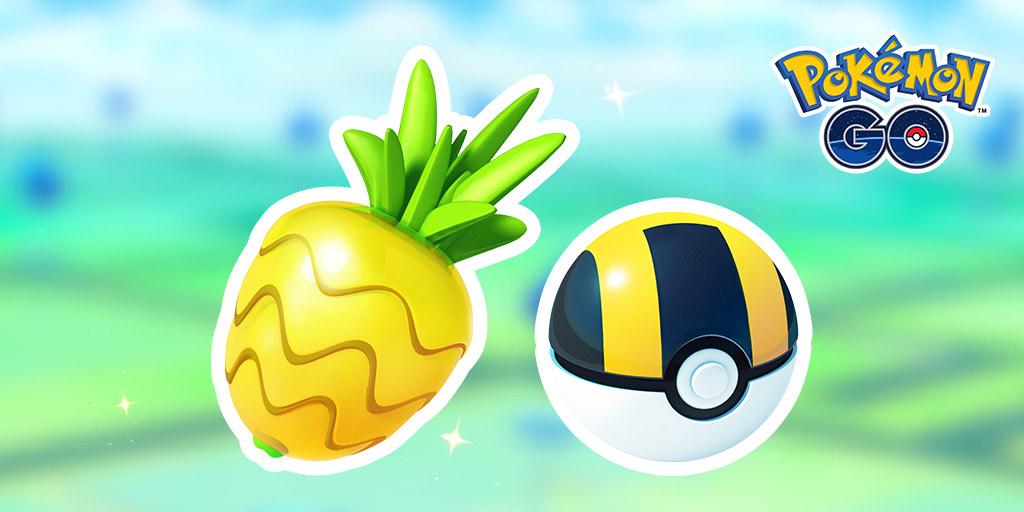 Pokémon Go: 1 Moneda Pokémon por una caja que incluye 20 Ultraballs y 15 Bayas Piñia