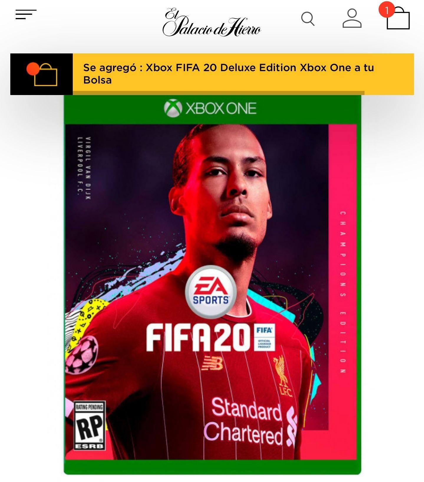 Palacio de Hierro: Xbox One Fifa 20 Deluxe