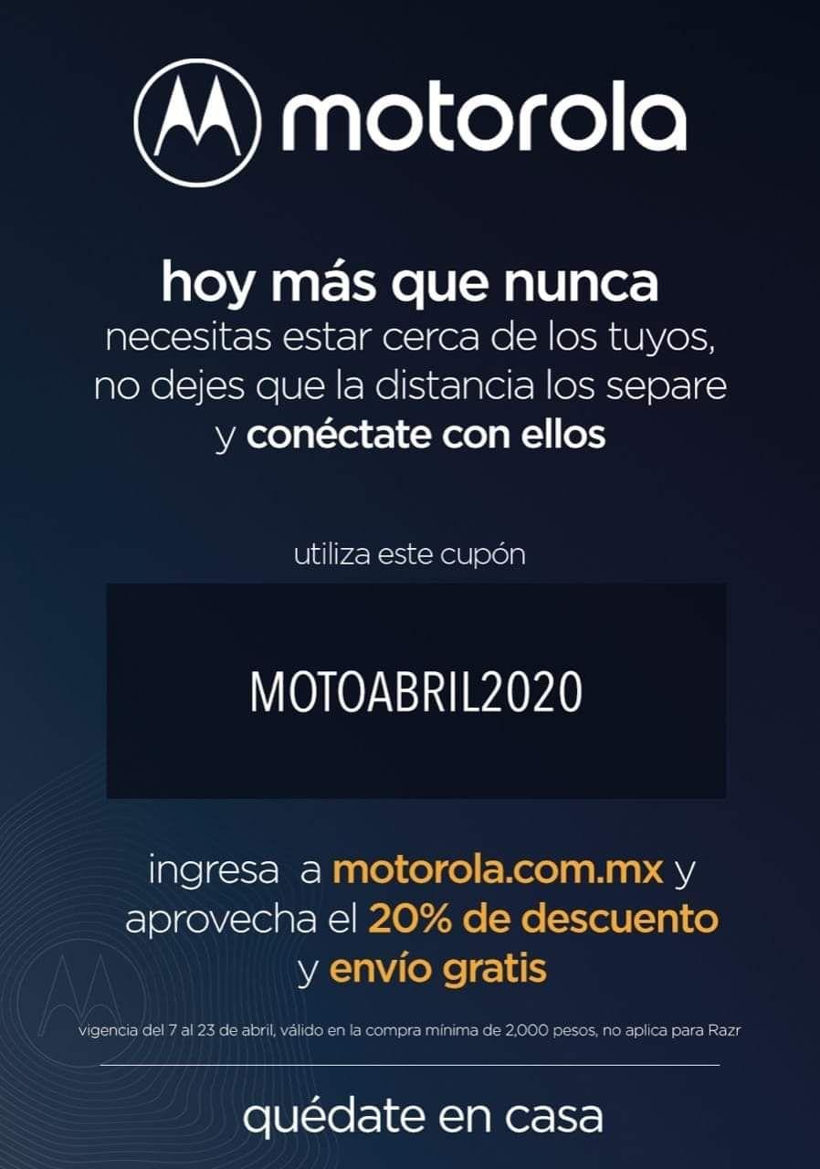 20% de descuento en página Motorola