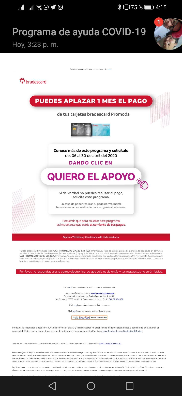 Programa de ayuda COVID-19 Bradescard Promoda