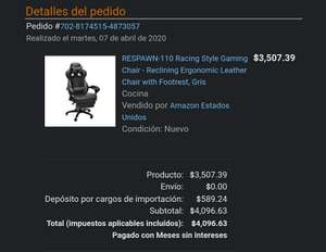 Amazon - Silla gamer Respawn 110
