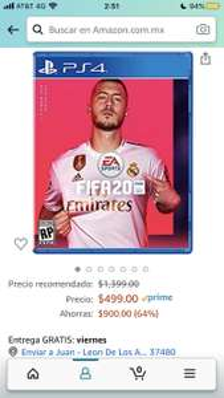 Amazon: FIFA 20 Standard PS4 o XBOX ONE