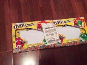 Walmart: chocolates y portaretrato M&M's a $8.02