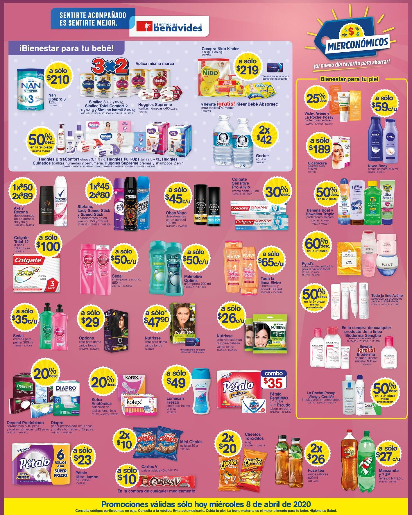 Farmacias Benavides: Mierconómicos 8 de Abril
