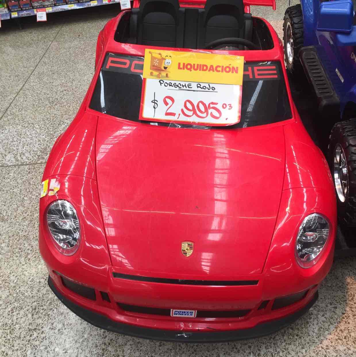 Walmart: liquidación Montable Eléctrico Power Wheels Porsche 911 GT3 a $2,995
