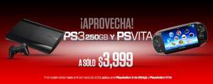 Gamers: PS3 de 250GB o PS Vita a $3,999