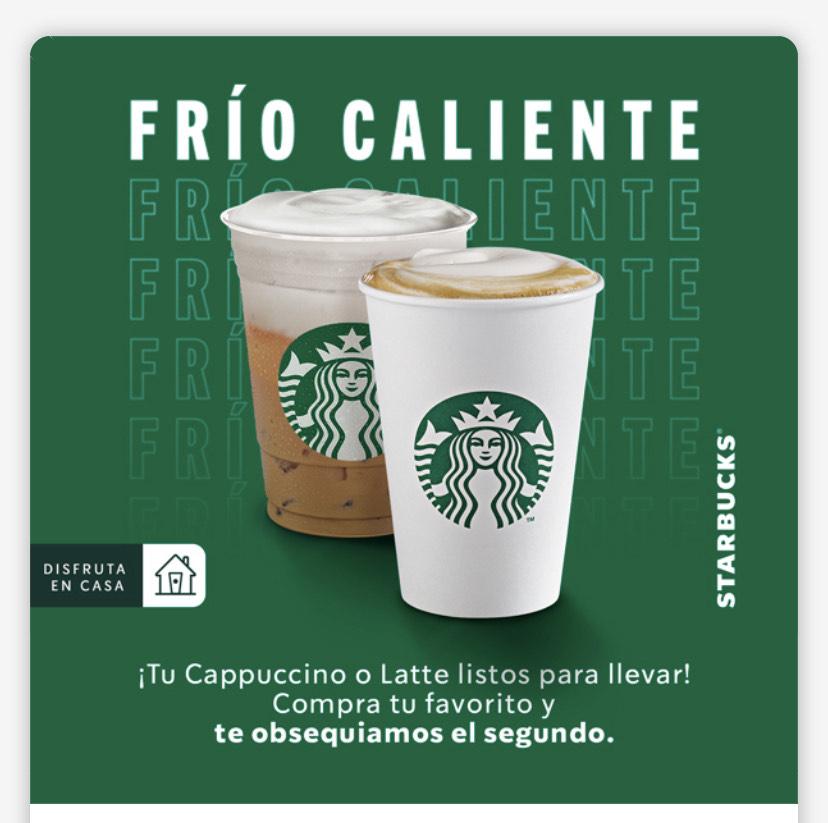 Starbucks: 2x1 en Latte y Cappuccinos