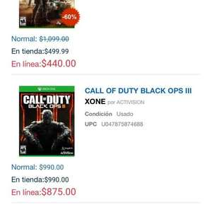 Gameplanet: Call Of Duty Black Ops 3 USADO a $875