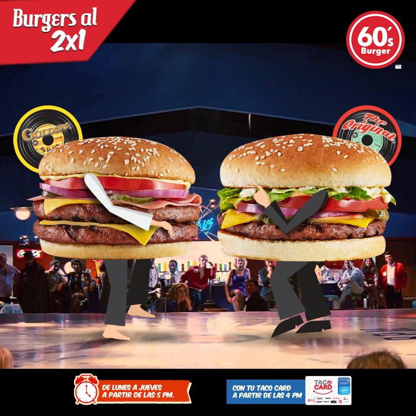 Sixties Burger: Hamburguesas al 2x1 de Lunes a Jueves