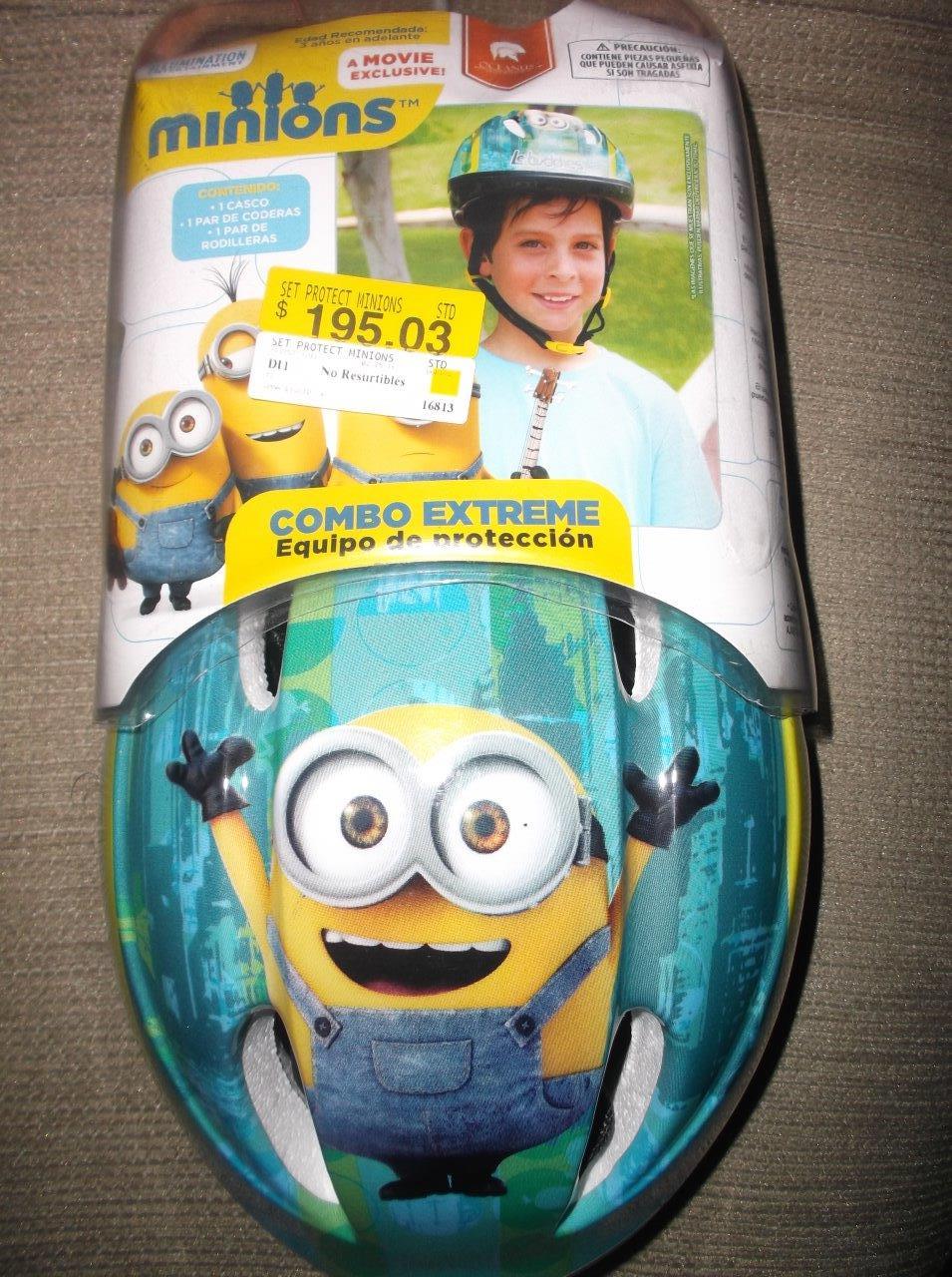 Walmart Perinorte: Set protector Minion para niño $35.01