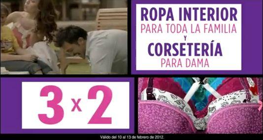 Suburbia: 3x2 en ropa interior para toda la familia y corsetería para dama