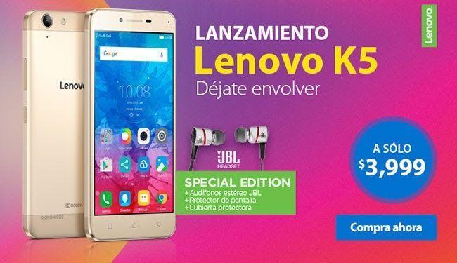 Amazon: preventa Lenovo K5 con cupón Saldazo a $3,399