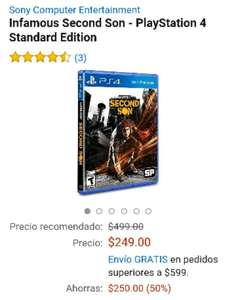 Amazon México: Infamous Second Son para PS4 a $249