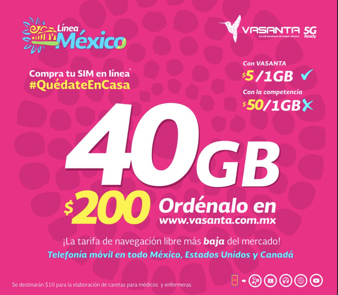 Vasanta: Nueva Telefónica Chip 40Gb x $200