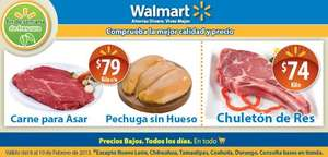Ofertas en carnes en Wamart y Chedraui fin de semana de febrero 8