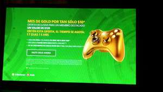 Xbox Liver: membresia gold a $10 (usuarios Silver)