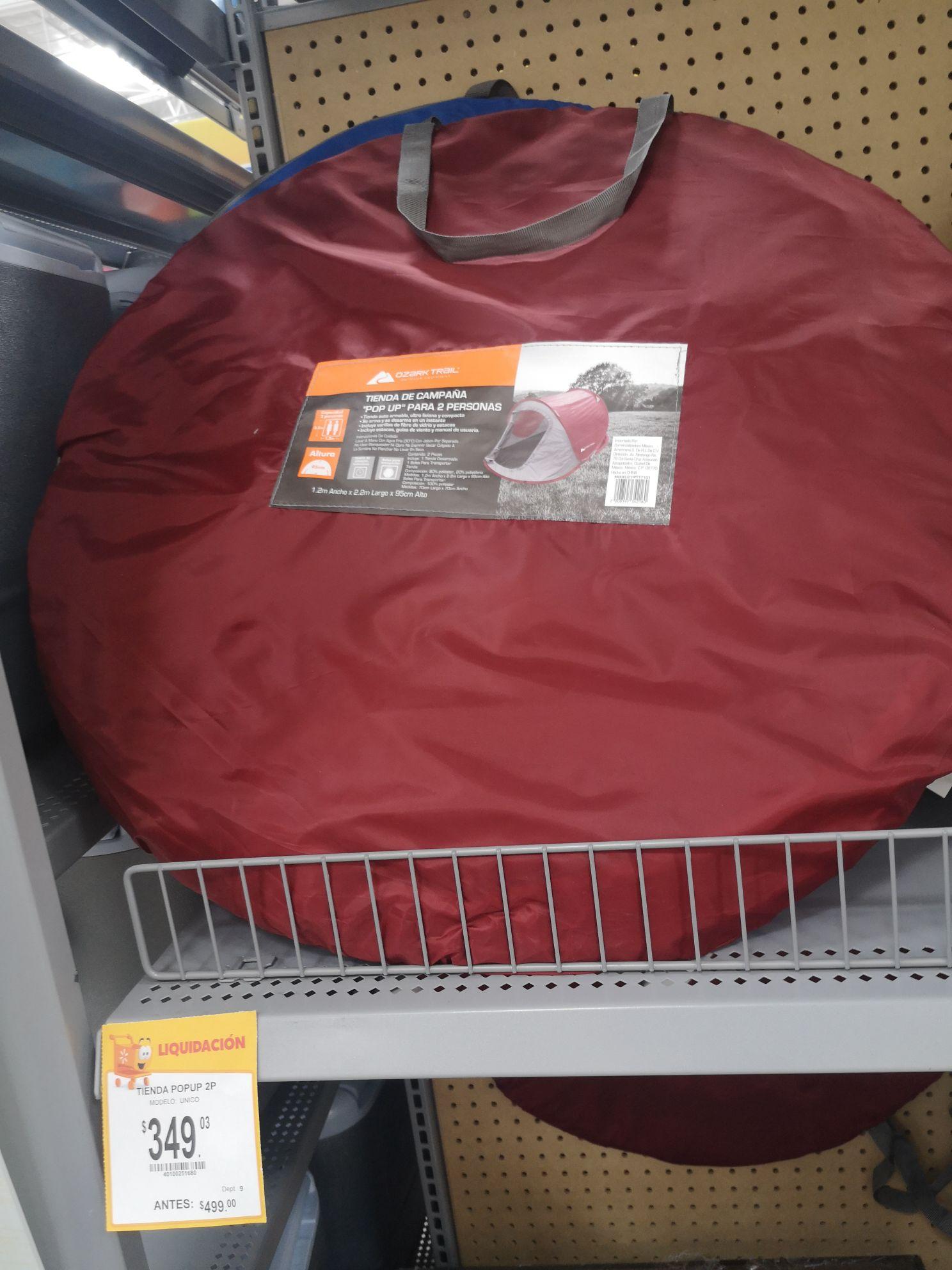 Walmart Jacal Qro: Tienda de campaña PopUp 2 personas