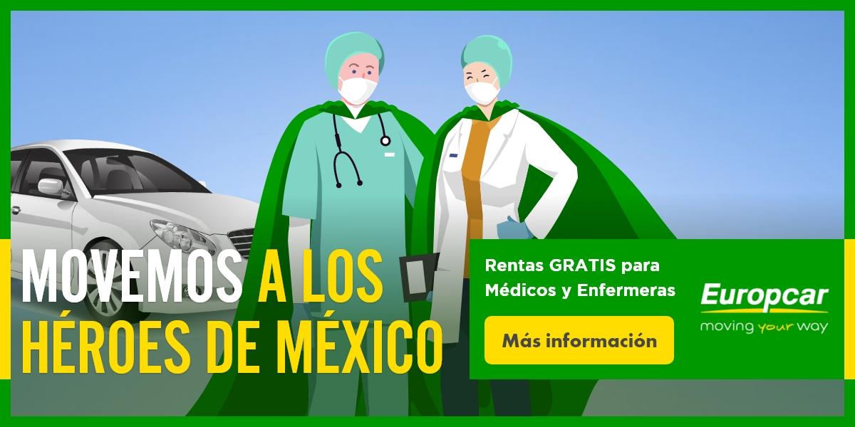 Europcar: Renta de autos GRATIS para Personal Médico