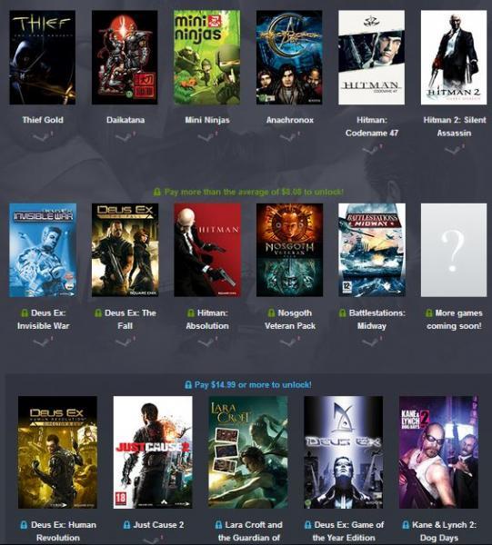 Humble Bundle de Square Enix (Hitman, Deus Ex y más)