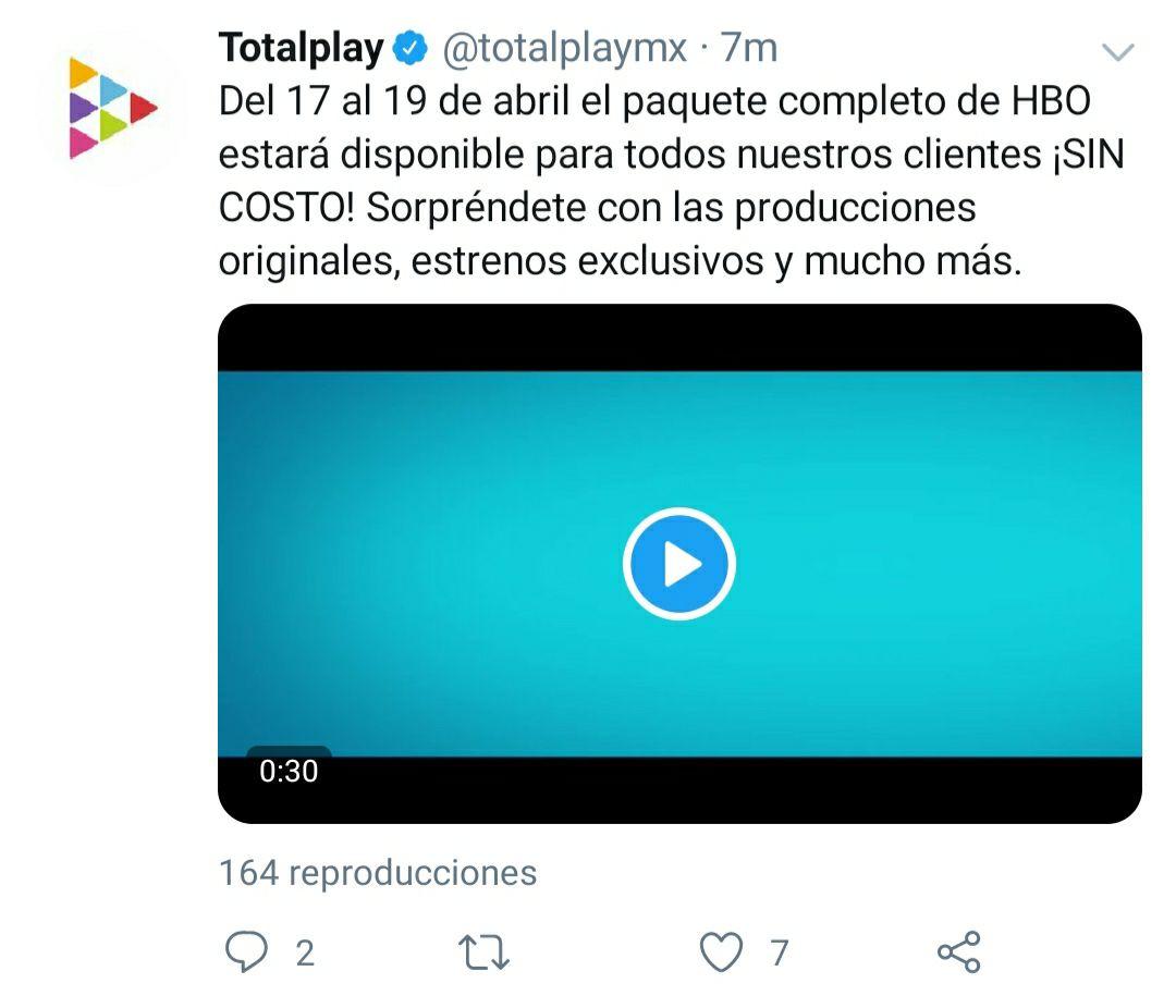 Totalplay: HBO gratis del 17 al 19 de abril