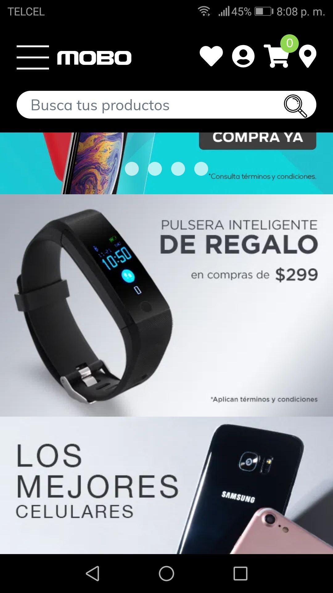 Mobo: De regalo pulsera inteligente y envío gratis en compras mayores de $299