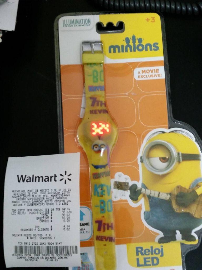 Walmart: Reloj minions a $30.02