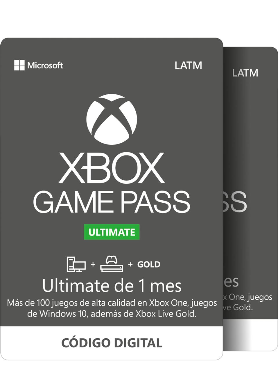 Xbox Game Pass Ultimate 1 mes gratis en la compra de 1 mes (2x1) en Claners