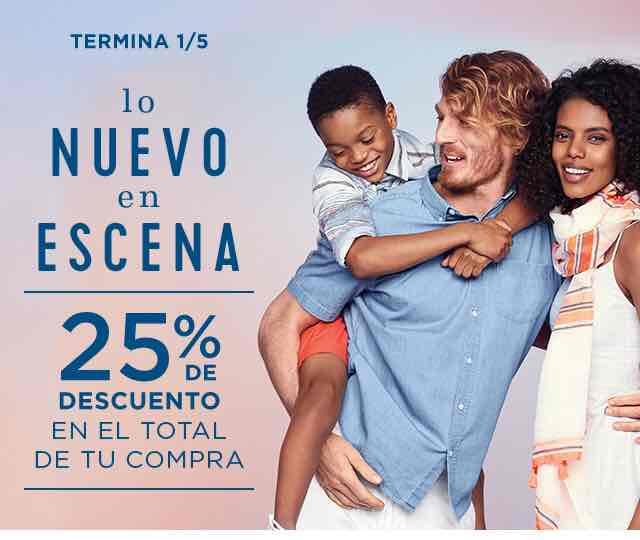 OldNavy: 25% de descuento en el total de la compra