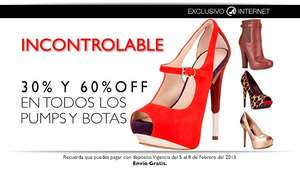 Nine West: del 30% al 60% de descuento en pumps y botas